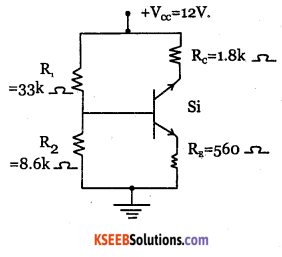 2nd PUC Electronics Question Bank Chapter 2 Transistor Biasing 12