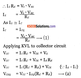 2nd PUC Electronics Question Bank Chapter 2 Transistor Biasing 6