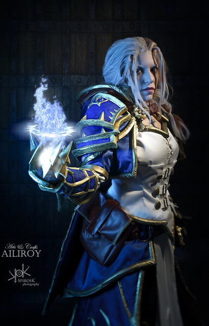 Ailiroy as Jaina Proudmoore from World of Warcraft, shot by SpirosK (Ice Spells)