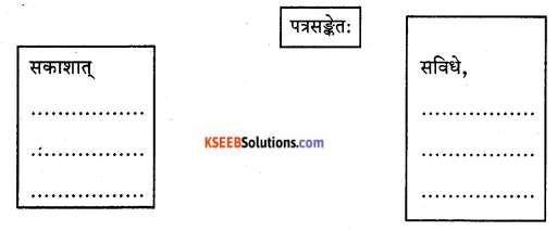 KSEEB Solutions for Class 9 Sanskrit नंदिनी Chapter 21 पत्रलेखनम् 2