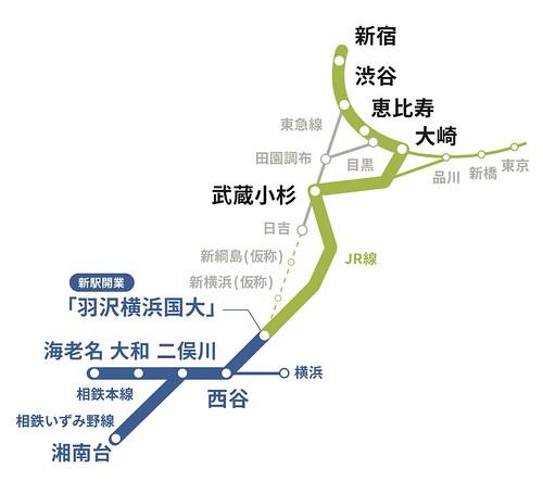 相鉄・JR直通線!