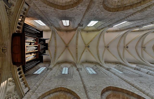 Saint-Benoît-sur-Loire (Loiret) - Abbaye de Fleury - Nef - Voûtes (explore 21-02-20)