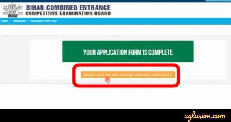 BCECE 2020 Application Form Correction