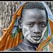 Etiopia . Valle del Omo. Los Mursi
