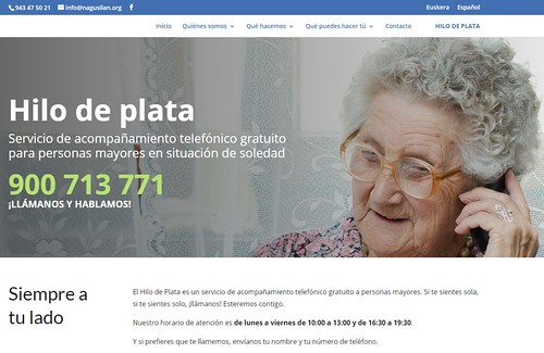 Hilo de Plata, acompañando por teléfono a personas mayores solas
