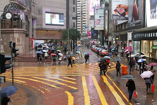 Pedestrian scramble crossing on Russell Street, Causeway Bay | by Marcus Wong from Geelong