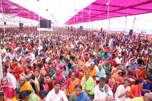 Devotees attending Mass Marriage
