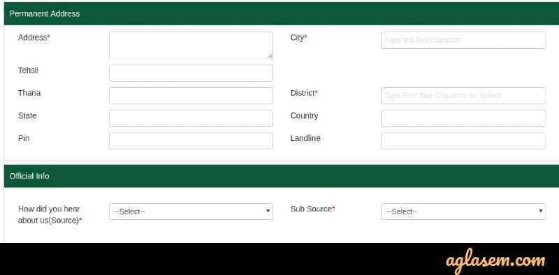 Modi University application form 2020