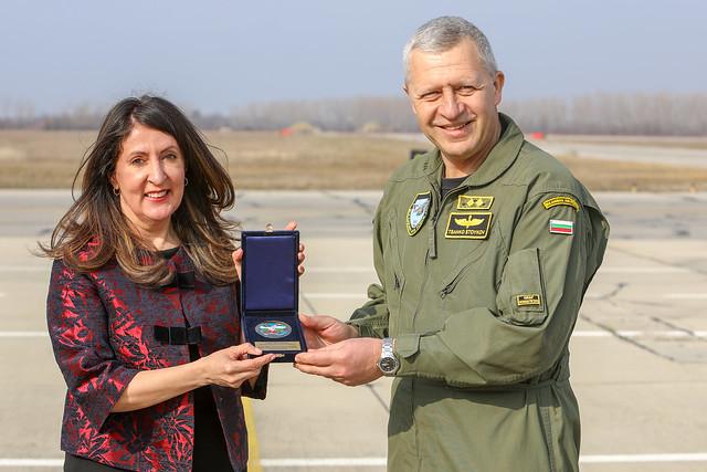 Ambassador Herro Mustafa Visits Graf Ignatievo Air Base