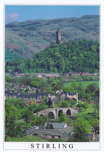 UK - Scotland - Stirling (Wallace Monument and the Ochil Hills)