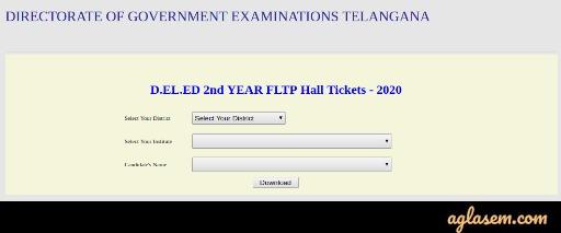 D.El.Ed Hall Ticket