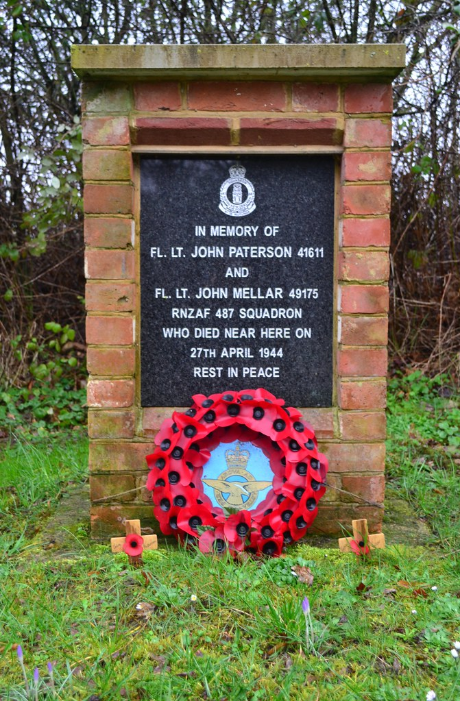 Memorial to Fl. Lt. J Paterson and Fl. Lt J. Mellar