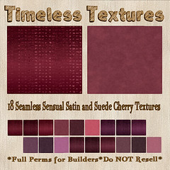 TT 18 Seamless Sensual Satin and Suede Cherry Timeless Textures