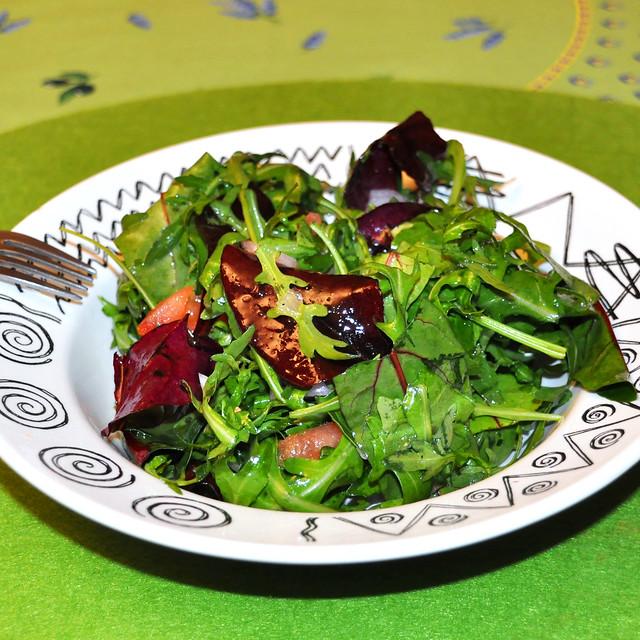Februar 2020 ... Zuerst einen Salat ... Foto: Brigitte Stolle