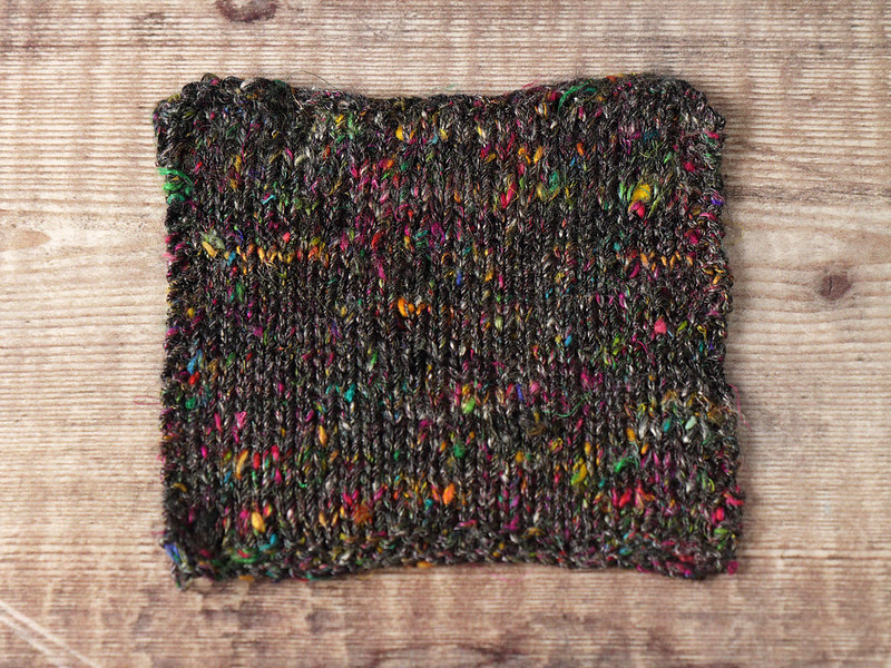 Karma Blend knitted swatch