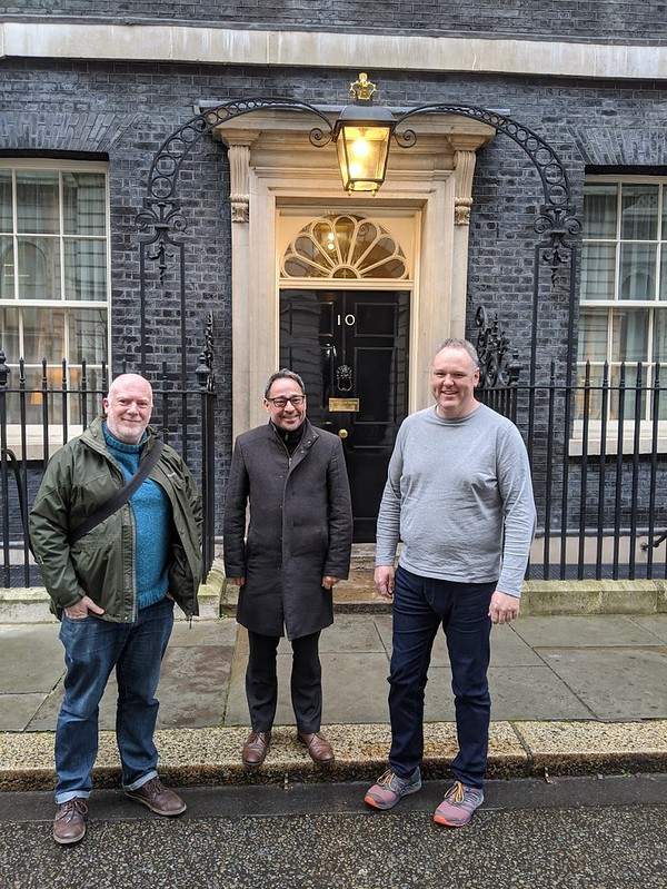 PSD, Paul M and Ben outside Number 10