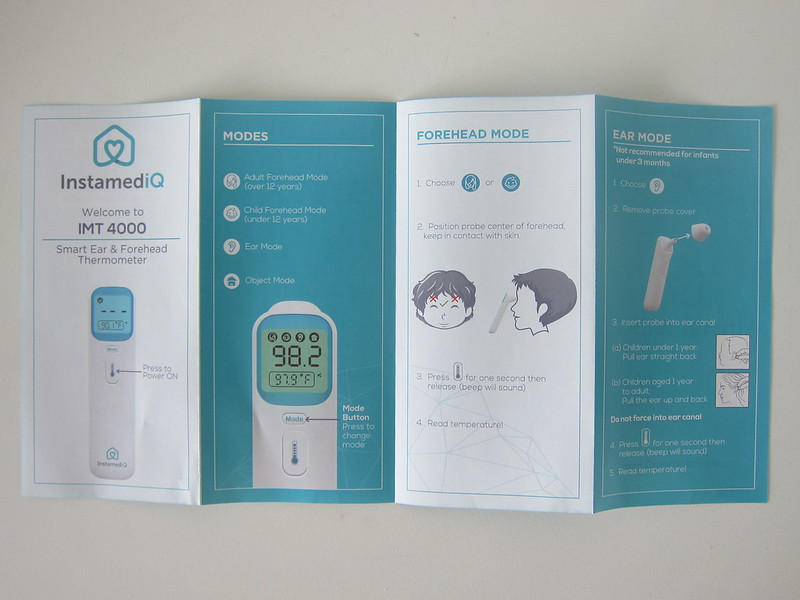InstamediQ Digital Forehead and Ear Thermometer - Quick Start #1