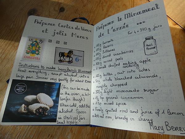 mincemeat et cartes de voeux