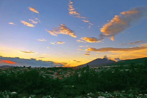 sunset landscape panorama scenery afternoon lembang