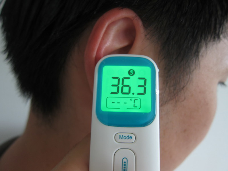 InstamediQ Digital Forehead and Ear Thermometer - Measuring Ear Temperature
