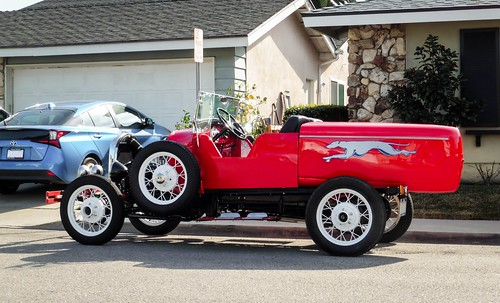 ford modela special greyhound red racer racecar