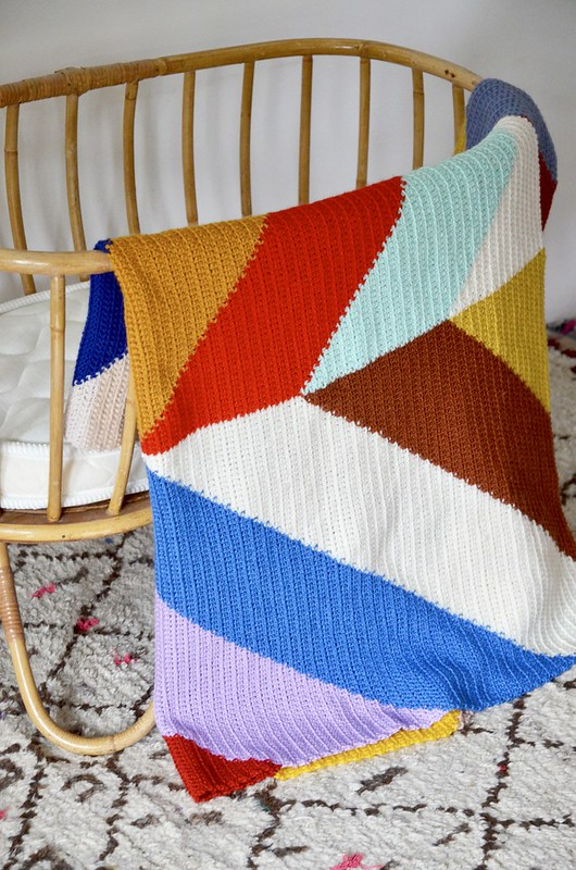 woodwoolstool chevron blanket pattern