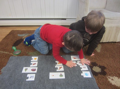 rhyming picture puzzle match