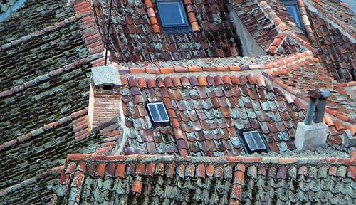 Tiled roofs in Segovia, Spain