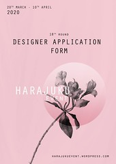 Harajuku 原宿 Event - 18th Round DESIGNERS APPLICATION FORM