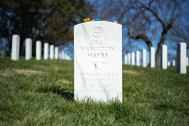 Gravesite of U.S. Marine Corps Cpl. Ira Hayes