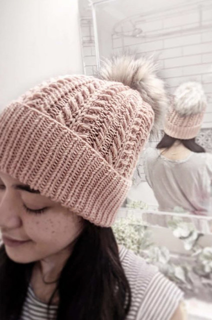 Gorgeous cabled hat by Veronica that was just for her for a change!! Look at all those cables