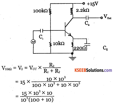 2nd PUC Electronics Question Bank Chapter 3 Transistor Amplifiers 43