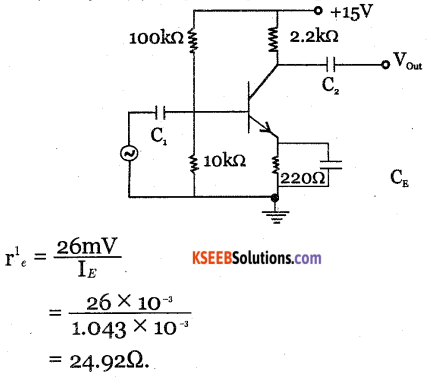 2nd PUC Electronics Question Bank Chapter 3 Transistor Amplifiers 41