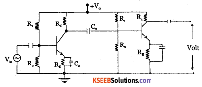 2nd PUC Electronics Question Bank Chapter 3 Transistor Amplifiers 13