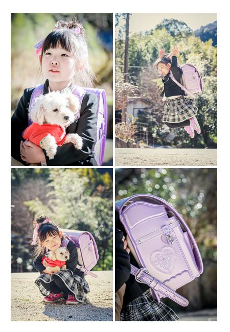 小学校入学準備 ランドセルはライトパープル(紫)