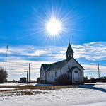 21. Veebruar 2020 - 13:54 - This is the Village of Liberty. There are many small village in Saskatchewan, Canada.  This is one of the Churches. Liberty has a population of approximately   80 people.