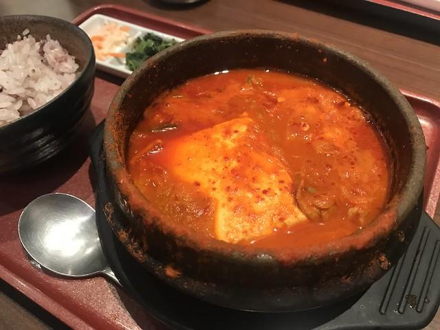 Korean tofu jjigae pot