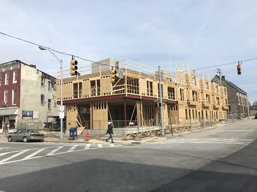 Greenmount and Chase apartments under construction, Greenmount Avenue and E. Chase Street (northeast corner), Baltimore, MD 21202 | by Baltimore Heritage