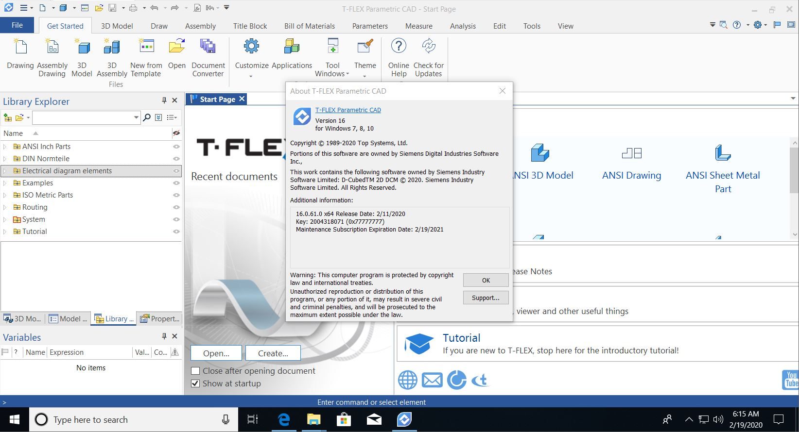 Working with T-FLEX Parametric CAD 16 full license