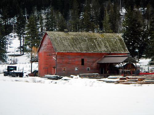 Old wood barn in Kamloops, Canada