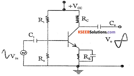 2nd PUC Electronics Question Bank Chapter 3 Transistor Amplifiers 8