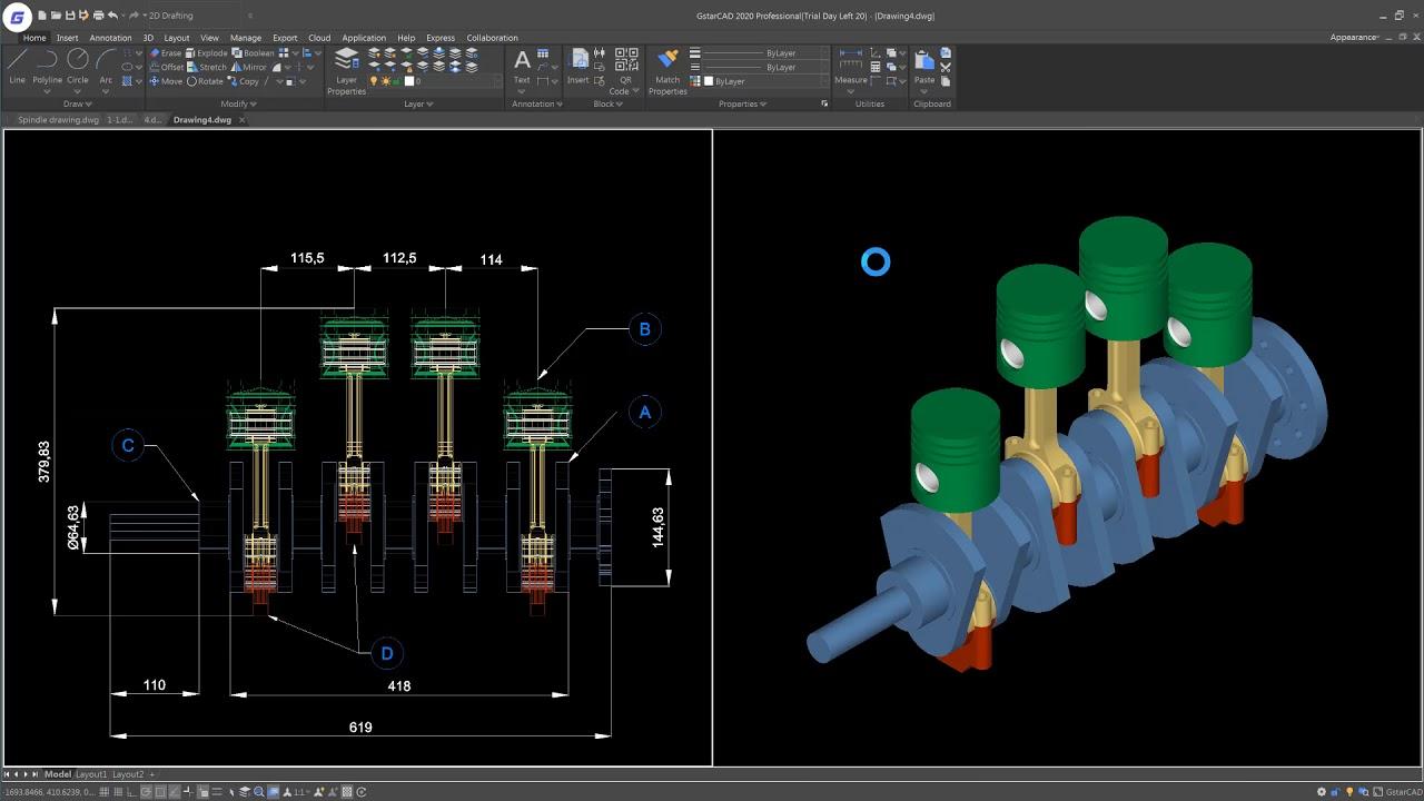 Working with GstarCAD 2020 full license