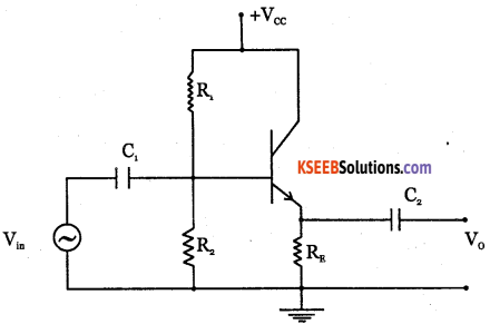 2nd PUC Electronics Question Bank Chapter 3 Transistor Amplifiers 10