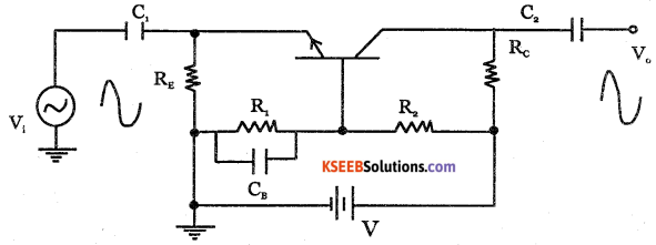2nd PUC Electronics Question Bank Chapter 3 Transistor Amplifiers 7