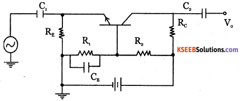 2nd PUC Electronics Question Bank Chapter 3 Transistor Amplifiers 5