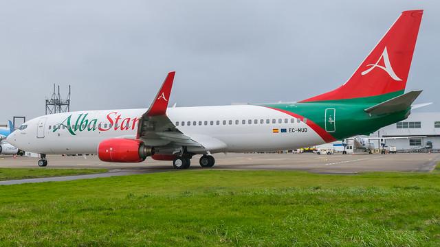 EC-MUB - Albastar 737 @ Cardiff Airport 21/02/20