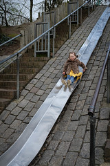 Margie on the big slide