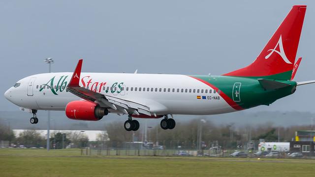EC-NAB - Albastar 737 @ Cardiff Airport 21/02/20