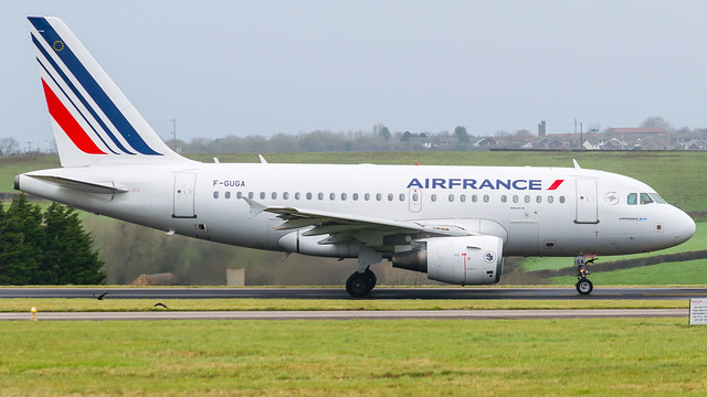 F-GUGA - Air France a318 @ Cardiff Airport 21/02/20