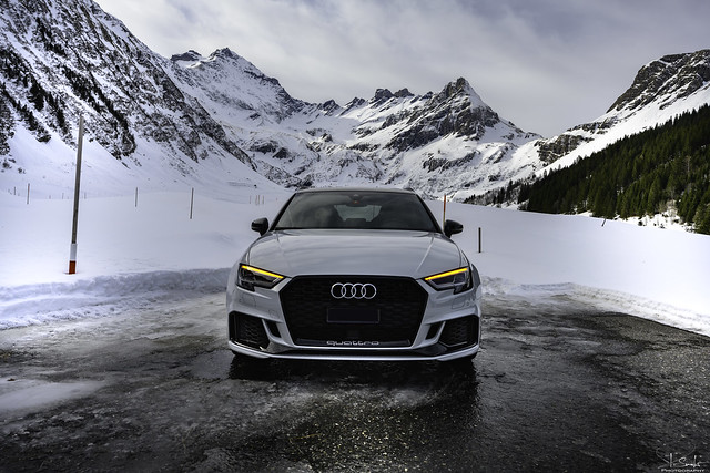 End of the road with Audi RS3 - Wichlen - Glarus -  Switzerland